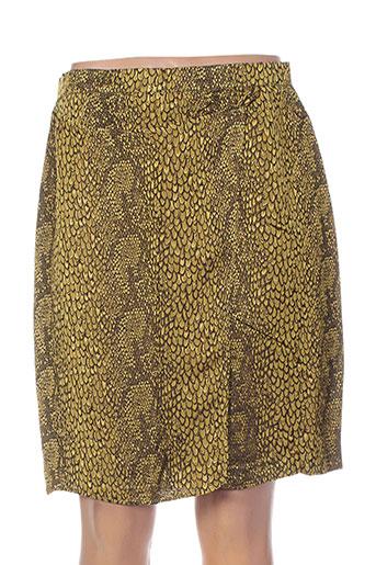 nathalie chaize jupes femme de couleur jaune