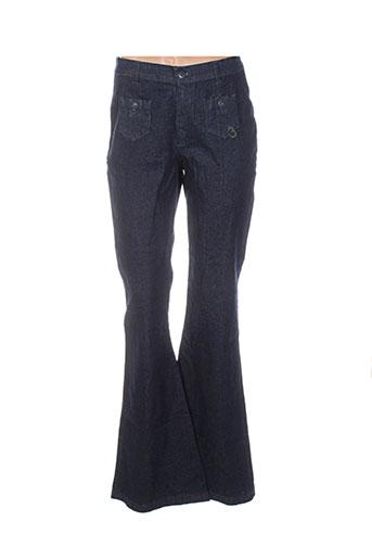 be you k jeans femme de couleur bleu