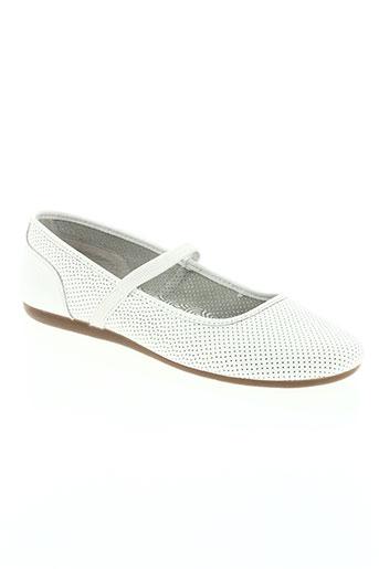 tbs chaussures femme de couleur blanc