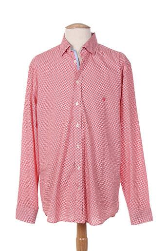 cambridge chemises homme de couleur rouge