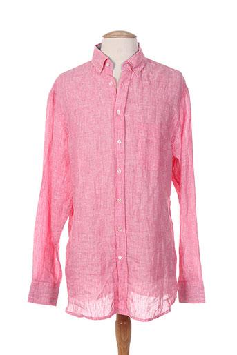 cambridge chemises homme de couleur rose