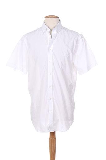 cambridge chemises homme de couleur blanc
