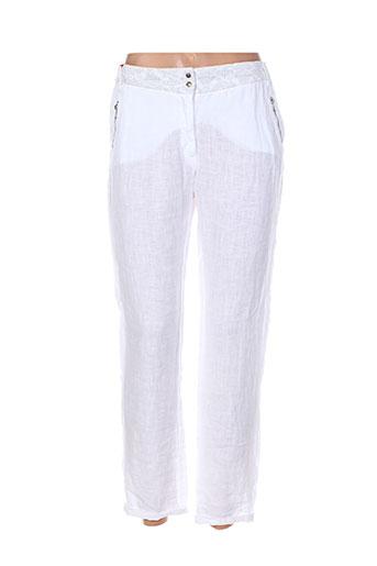 Pantalon casual blanc I.CODE (By IKKS) pour femme
