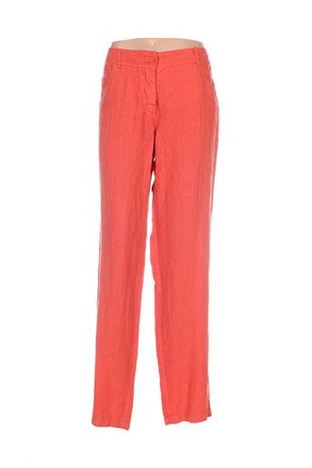 melvin pantalons femme de couleur orange