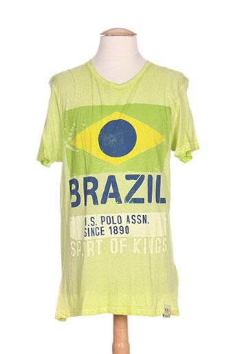 u.s. polo assn t-shirts / tops homme de couleur vert