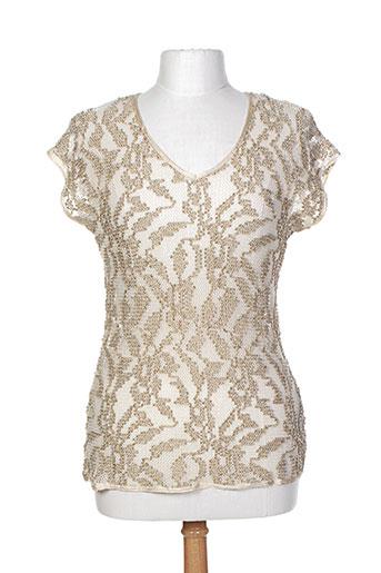 one step t-shirts / tops femme de couleur beige