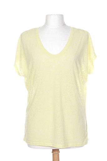 one step t-shirts femme de couleur jaune