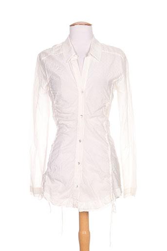bray chemises femme de couleur blanc
