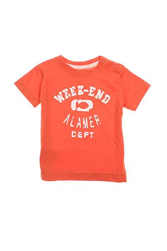 week end a la mer t-shirts garçon de couleur orange