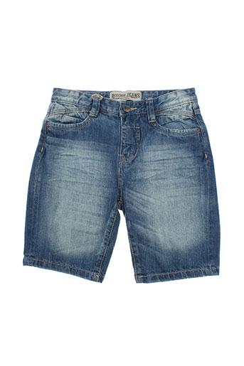 ritchie shorts / bermudas garçon de couleur bleu