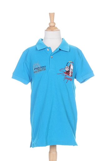 paul lucas t-shirts garçon de couleur bleu