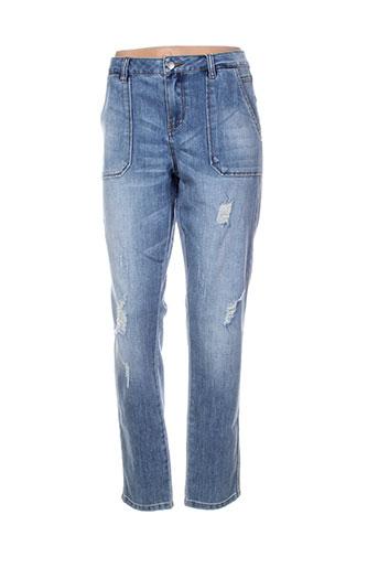 vila jeans femme de couleur bleu