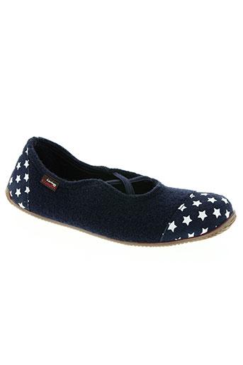 living kitzbühel chaussures femme de couleur bleu