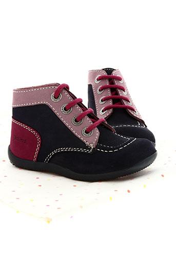 kickers chaussures fille de couleur bleu