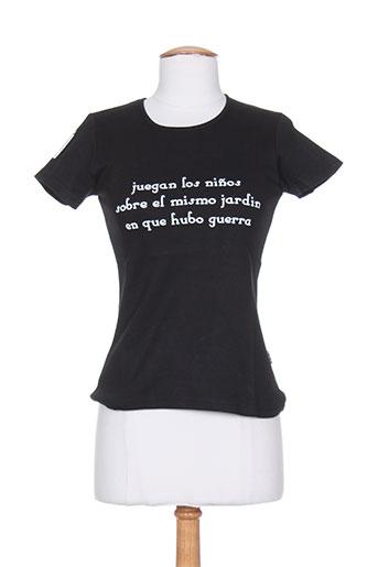 poetik t-shirts / tops femme de couleur noir