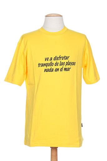 T-shirt manches courtes jaune POETIK pour homme