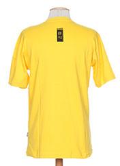 T-shirt manches courtes jaune POETIK pour homme seconde vue
