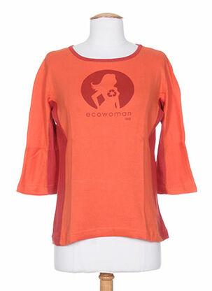 T-shirt manches longues orange IDEO pour femme