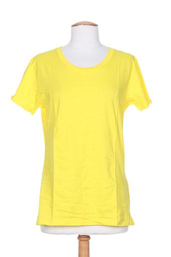 juste t-shirts / tops femme de couleur jaune