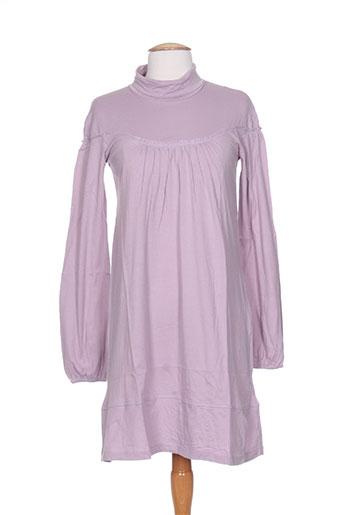 Robe courte violet IDEO pour femme