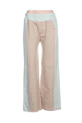 ideo pantalons femme de couleur beige
