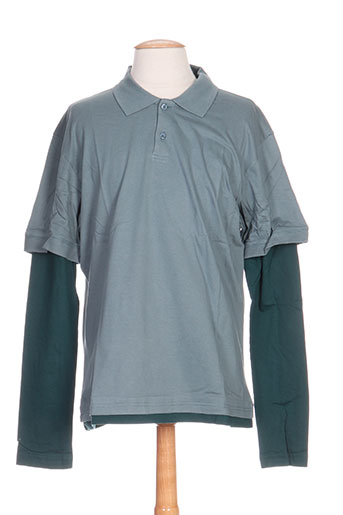 Polo manches longues vert IDEO pour homme