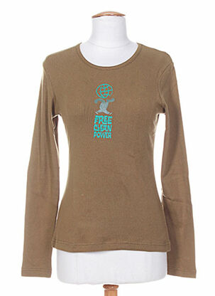 T-shirt manches longues vert IDEO pour femme