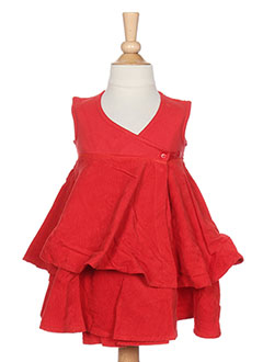Robe courte rouge IDEO pour fille