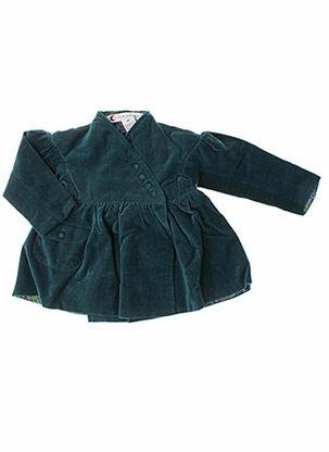 Manteau long vert IDEO pour fille