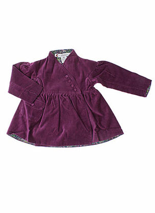 Manteau long violet IDEO pour fille