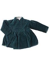 Manteau long vert IDEO pour fille seconde vue