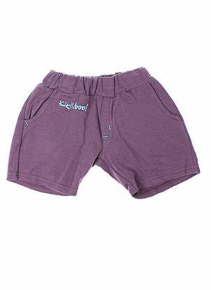 Bermuda violet KIK & BOO pour fille