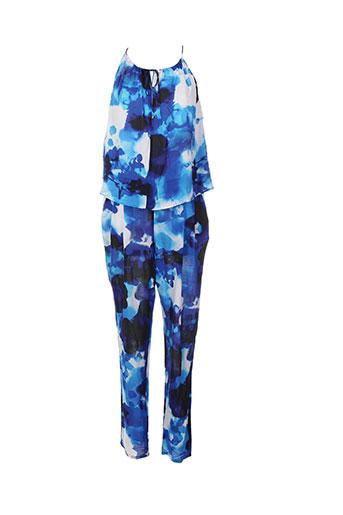 trussardi jeans combinaisons femme de couleur bleu