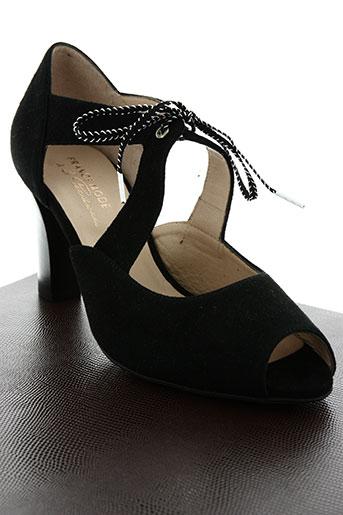 france mode chaussures femme de couleur noir