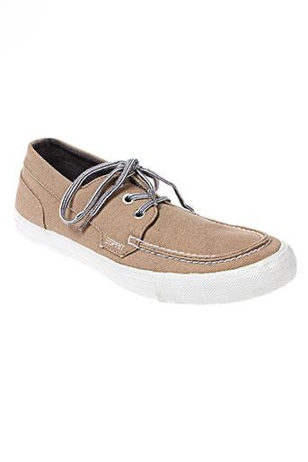 esprit chaussures homme de couleur beige