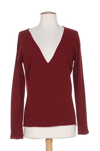 ese o ese pulls femme de couleur rouge