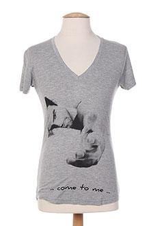 T-shirt manches courtes gris CITYBCH pour homme