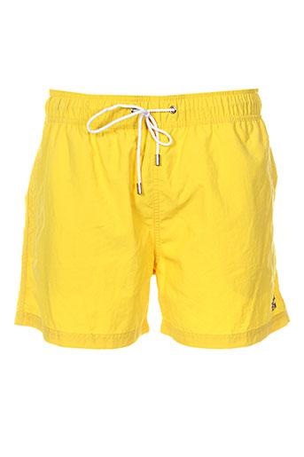 hom maillots de bain homme de couleur jaune