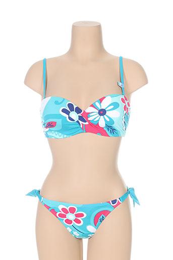cherry beach maillots de bain femme de couleur bleu