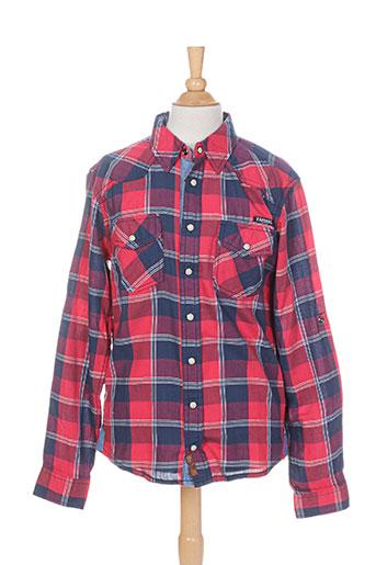 kaporal chemises garçon de couleur rouge
