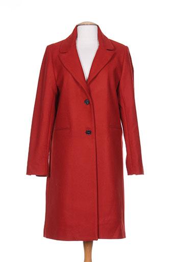 mkt studio manteaux femme de couleur rouge