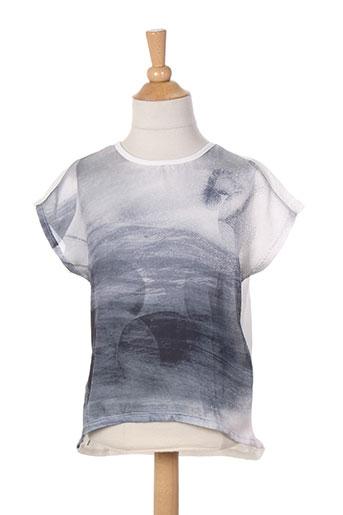 name it t-shirts / tops fille de couleur gris