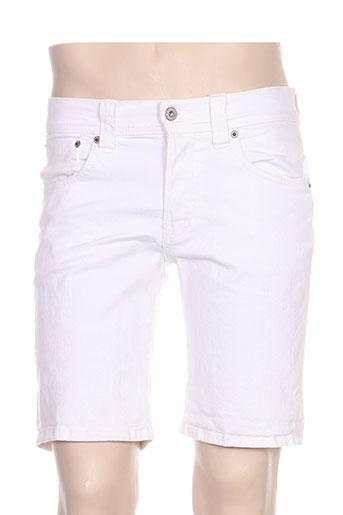 pepe jeans shorts / bermudas homme de couleur blanc