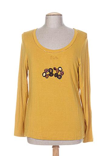 fuegolita t-shirts femme de couleur jaune
