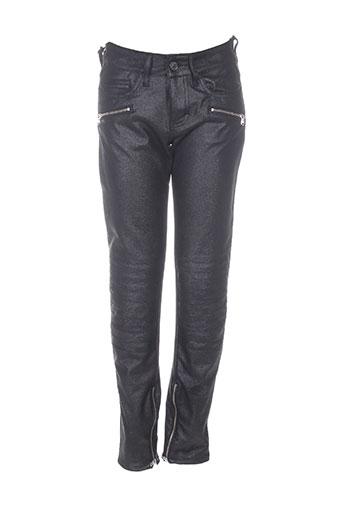Pantalon 7/8 noir FIVE pour femme