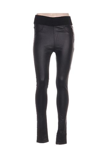 b.young pantalons femme de couleur noir