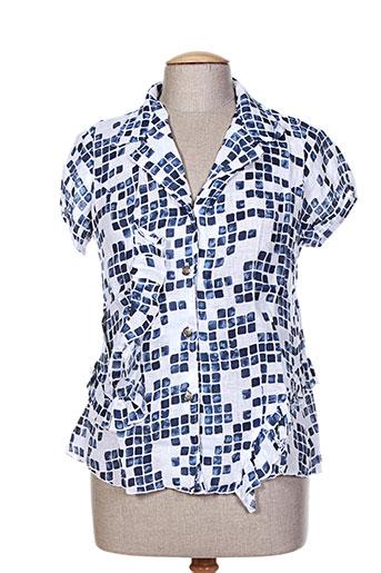 garuda garuzo chemises femme de couleur bleu