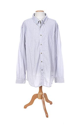 mustang chemises homme de couleur bleu
