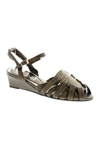 corine chaussures femme de couleur marron