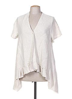 Veste casual beige EVA TRALALA pour femme